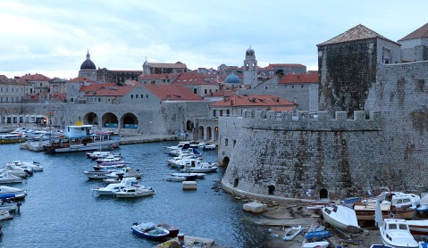 The old port of Dubrovnik.