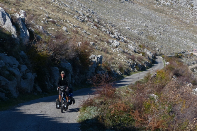 On the road to Shkodra through the Sea of Stones above Shkadar Lake.