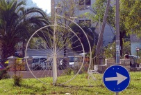 Bicycle art in Shkodra.