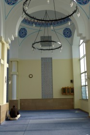 Interior of the mosque in downtown Shkodra.
