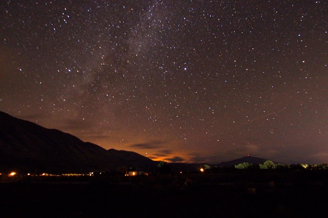 Starry night from the house we camped in.