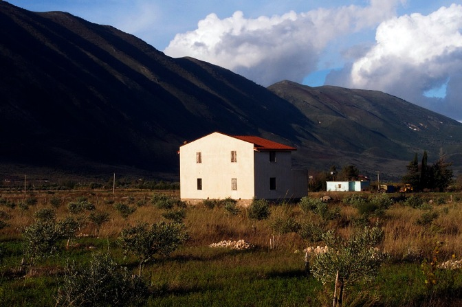 The unfinished house we camped in waiting for better weather to climb Logora Pass.