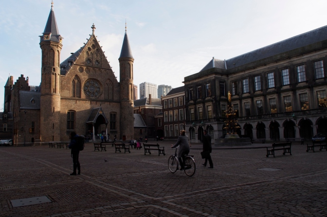 Het Binnenhof, the parliament buildings.