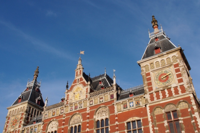 Amsterdam Central Station.