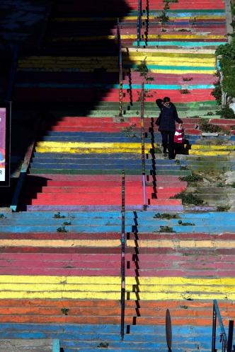 Rainbow steps.