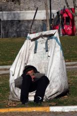 A recycler having a morning nap.