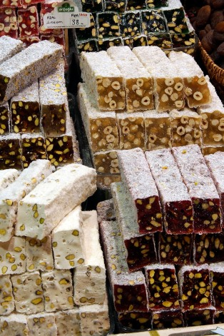 Sweets for sale in the Spice Bazaar.