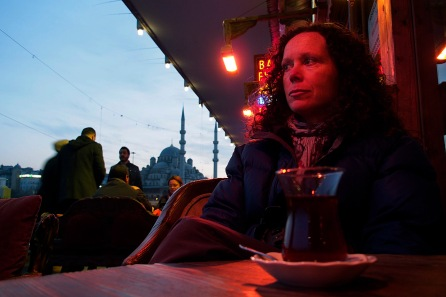 Having Tea.