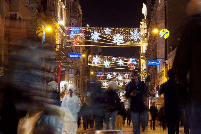 İstiklâl Caddesi, one of the main shopping streets in Istanbul.