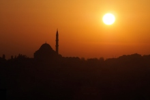 Sunset over Istanbul.