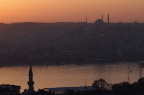 Sunset over the Golden Horn.
