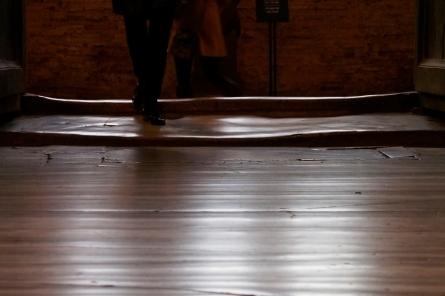 Marble threshold and floor entering Ayasofya - Hagia Sophia.