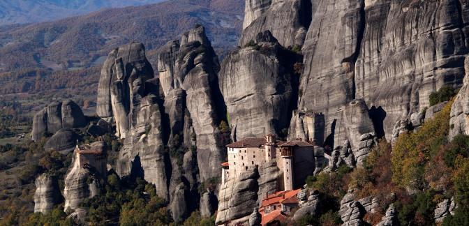 Panorama of one of the Meteorea monasteries.