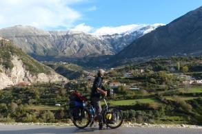 Climbing Logora Pass in the sunshine.