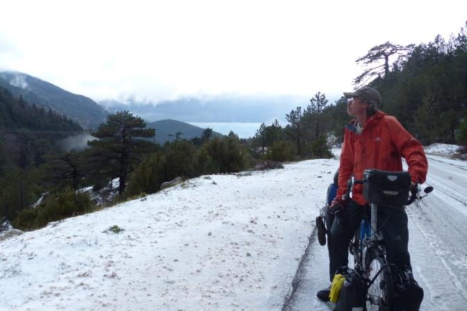 Paul in Logora Pass at 1025 metres above sea level.
