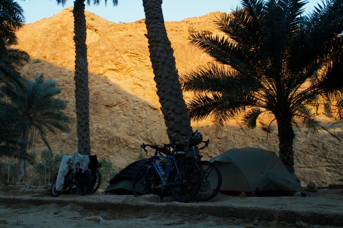 Our camp in Wadi Shab.