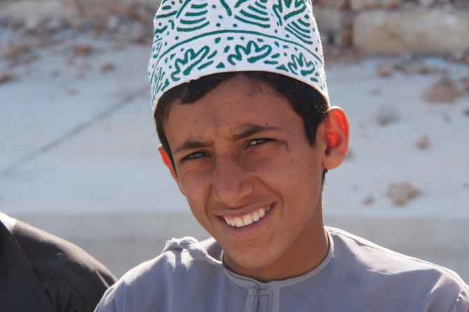 A boy I met on the road to Sur.