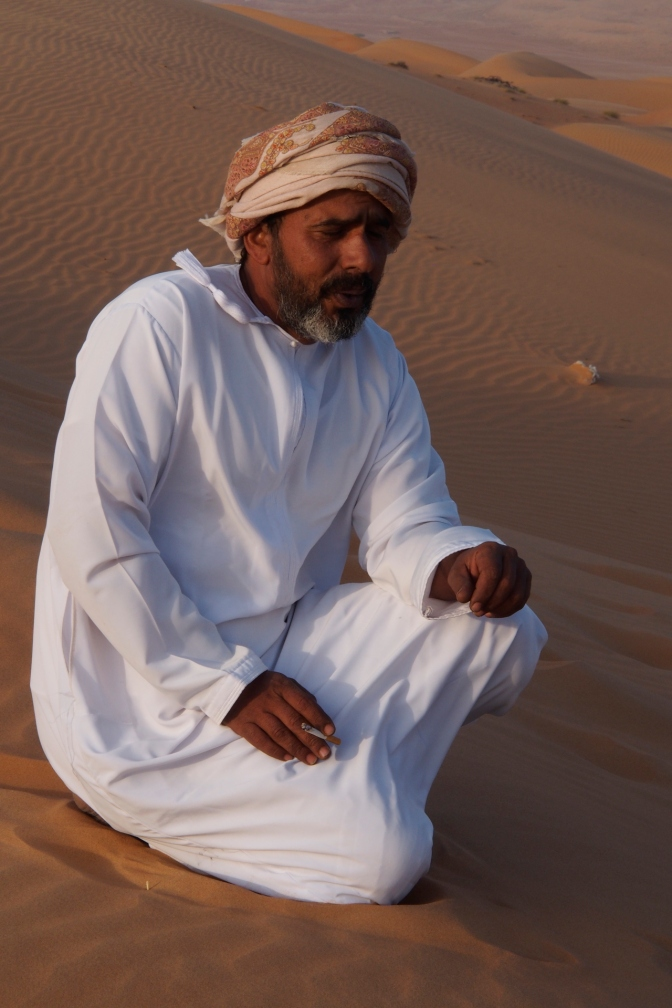 Obait, our host and guide at Wahiba Sands.
