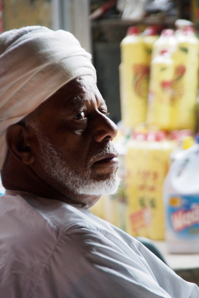 Shop keeper in Nizwa.
