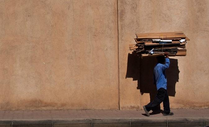Cardboard recycler.