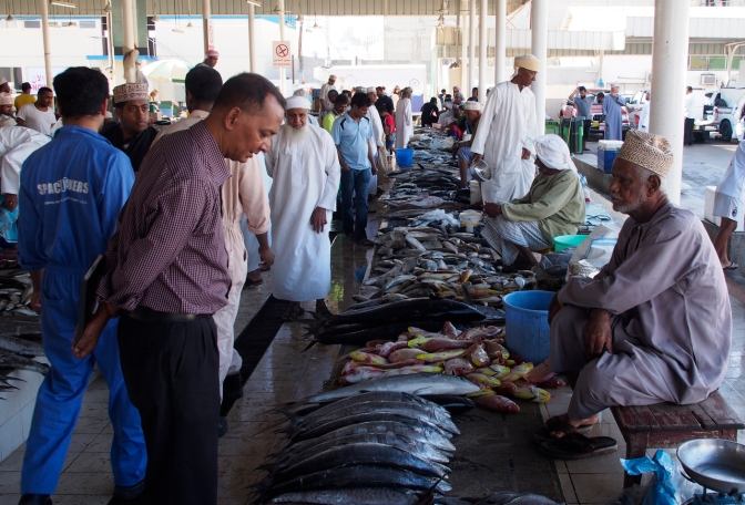 Muttrah fish market.