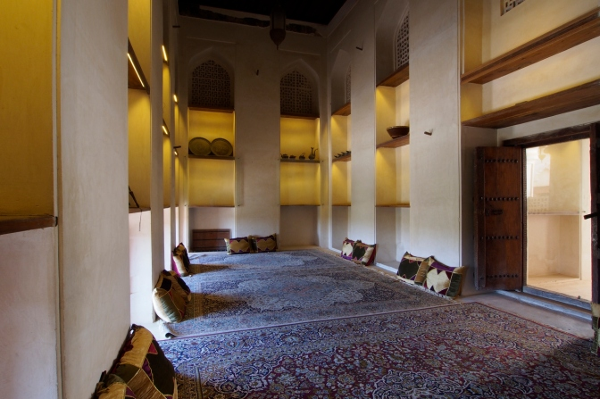 One of the rooms at Jabrin Palace.