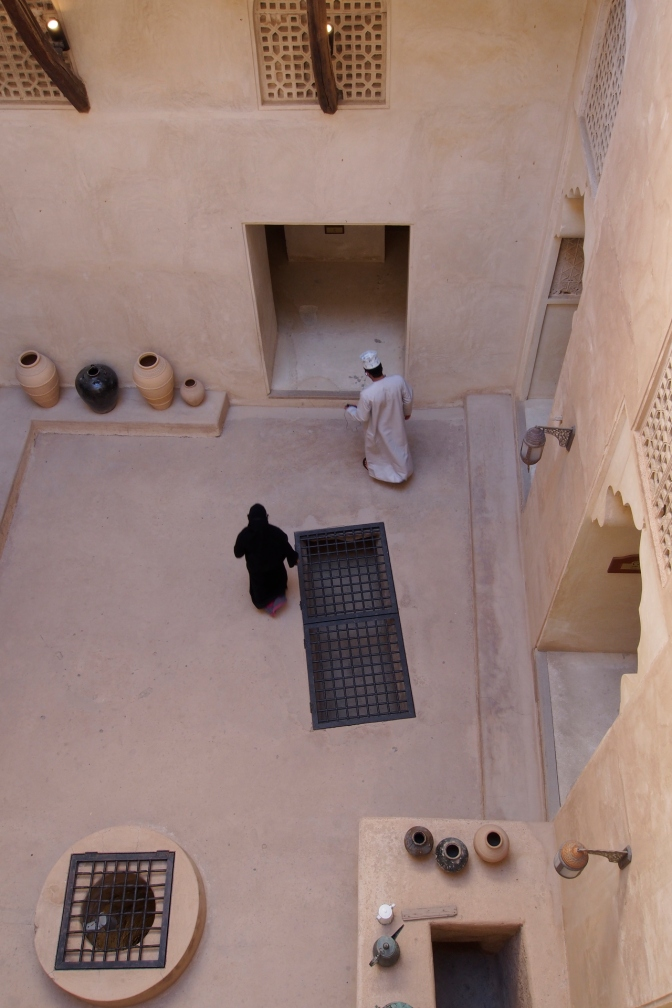 Jabrin Palace court yard.