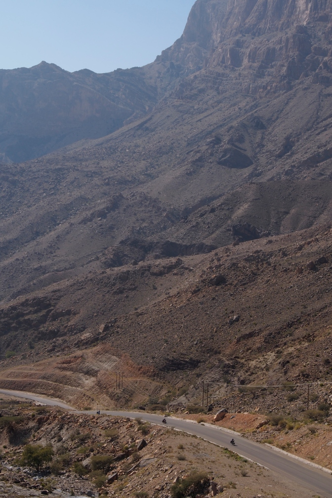 The road up Jabal Shams.