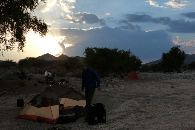 Our camp in a wadi near Al Ayn in the Jabal al Akhdar mountains.