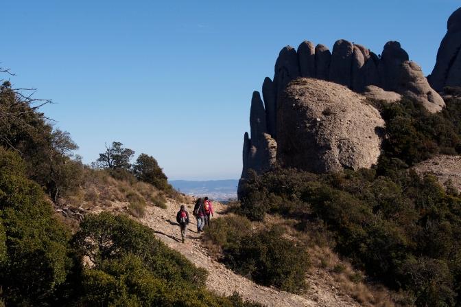 Hiking in Montserrat.