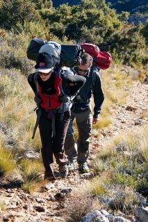 Hiking into the Sierra de Guara.