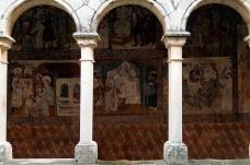 Frescoes at the Alquezar monastery.