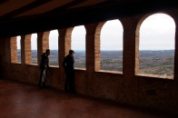 Looking out from the Alquezar monastery.