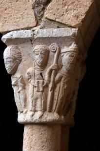 Column detail at the Alquezar monastery.