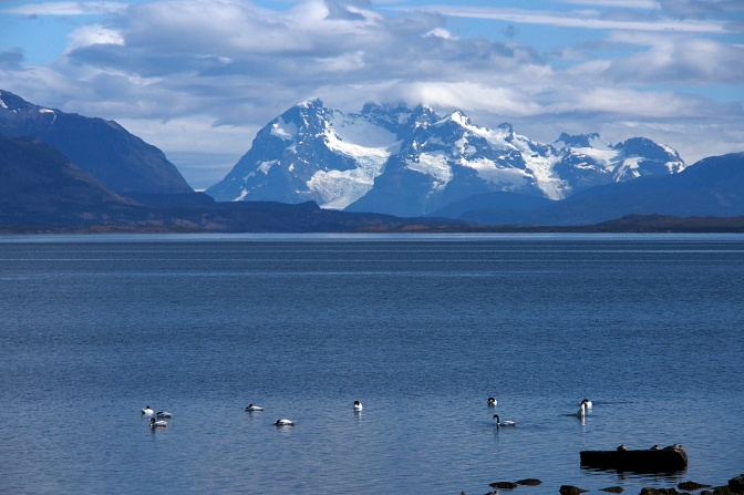 The view from Puerto Natales.