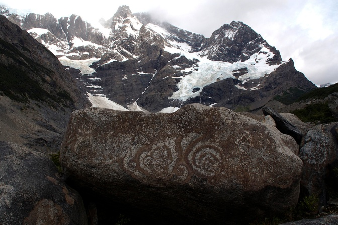 Ancient rock art or lichen rock art?