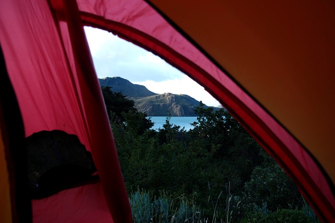 The view from the tent at Los Cuernos.