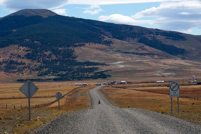 The Argentinian frontier east of Cerro Castillo.