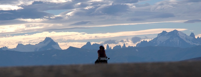 West of Cerro Castillo with Torres del Paine in the background.