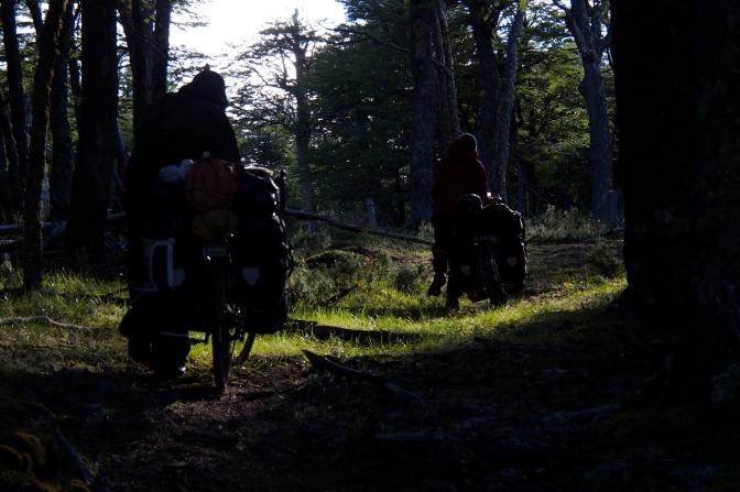 Leaving camp for the final few kilometres to Lago O'Higgins.