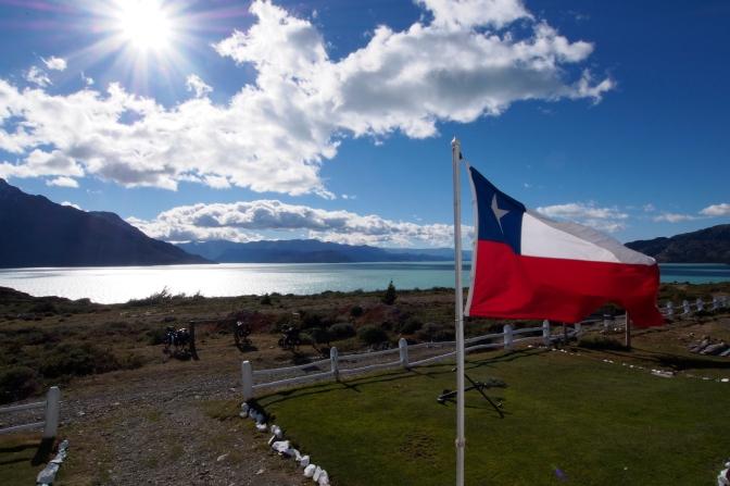 Chilean border post at Lago O'Higgins.