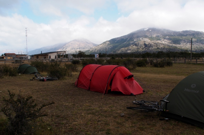 El Mosco camp site in Villa O'Higgins.