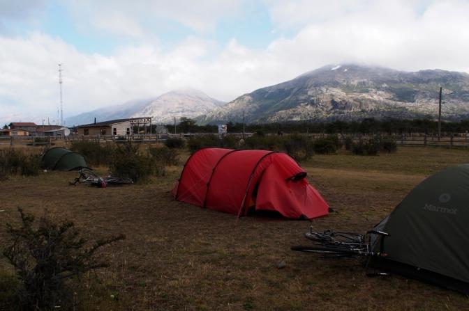 El Mosco camp site in Villa O'Higgins.