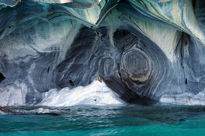Marble caves on Lago General Carrera.