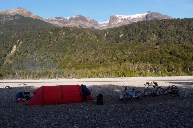 Camp along Rio Murta.