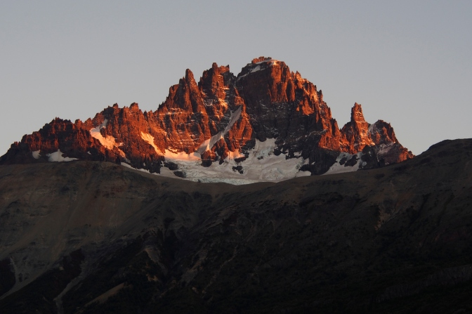 Sunrise on Cerro Castillo.