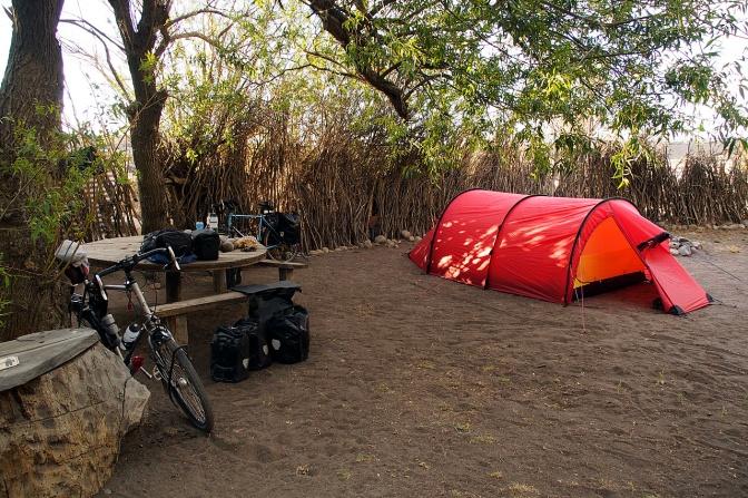 Camping at Hotel La Leona.