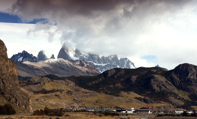 Fitz Roy looms over El Chaltén.