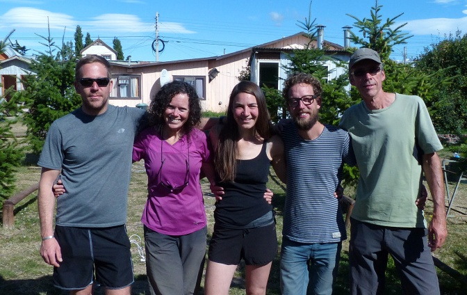 New friends, from left: Henrik, Jan, Laura, Christoph and Paul.