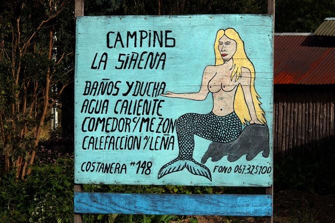 Camping La Sirena in Puyhuapi.
